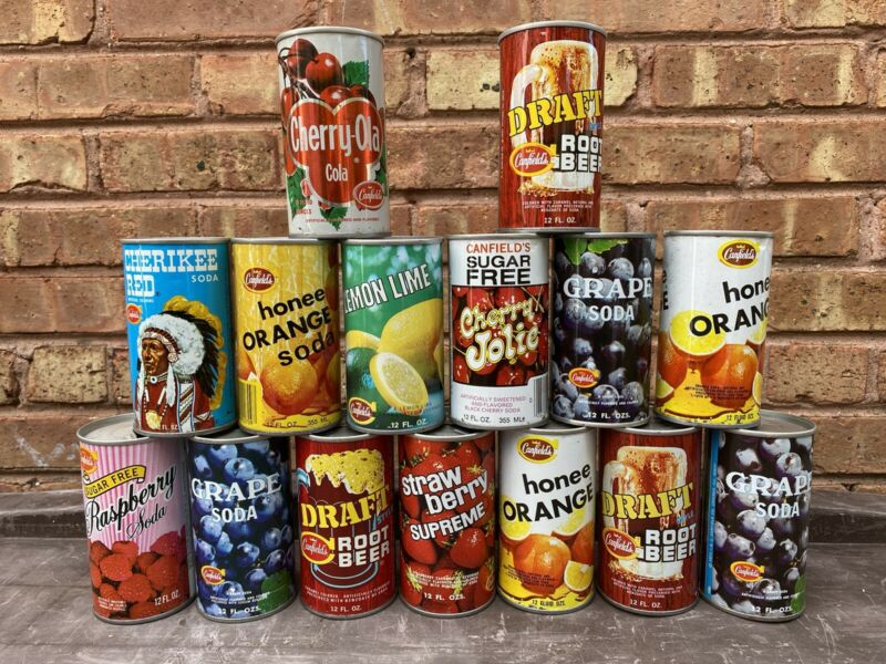 Canfields Vintage Soda Cans
