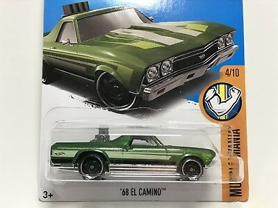 Hot Wheels 2017 Muscle Mania 4/10 '68 Chevrolet EL CAMINO SS 333 Green Q