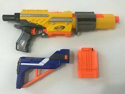 Nerf Alpha Trooper CS-18 N-Strike Blaster Dart Gun w/ Shoulder Stock & Clip Mag