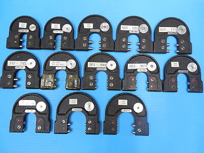 LOT OF 14PCS SNAP GAGES 3/8 5/8 3/4 7/8 1.000 & OTHERS UNDER AND OVERSIZE