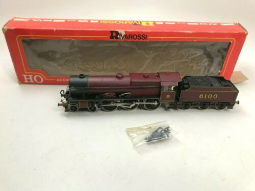 Rivarossi 1348 Royal Scot Class Locomotive & Tender w/ Worn Box - As Is Untested