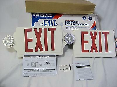 Lithonia Lighting Lhqm Led R Ho R0 M6 Exit Sign With Lights
