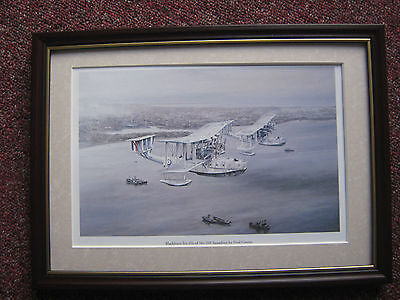 Fred Groves Aircraft Print Blackburn Iris Iiis Of No 209 Squadron Framed