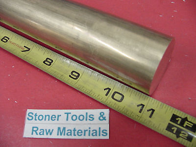 1-12 C360 Brass Round Rod 11 Long Solid H02 Lathe Bar Stock 1.50 Diameter