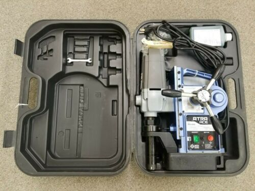 Nitto Atra Ace Auto Model WA-3500 Portable Magnetic Drill with Case