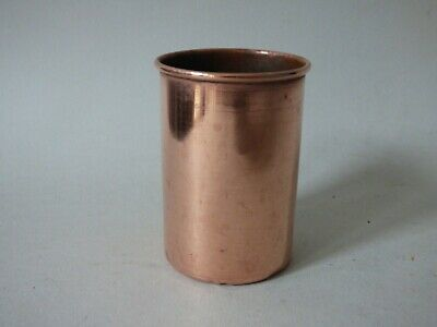 SMALL COLLECTABLE COPPER BREWERIANA SPIRIT BEER FLUID CAN CUP POT FREE UK P+P