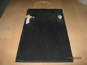 Kitchen sized Welsh slate memo chalk board message board shopping list