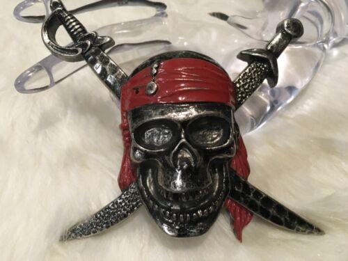 Disney Skull Pirates of the Caribbean Enameled Belt Buckle