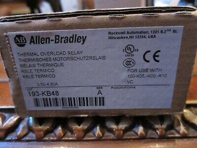 New Allen Bradley Thermal Overload Relay 193-kb48