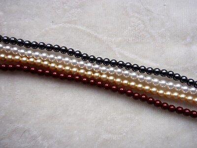 30 Swarovski® Kristall Perlen Crystal Pearls 3mm Art. 5810 verschiedene Farben