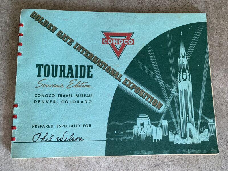 Vintage 1939 Conoco Golden Gate International Expo Touraide  Souvenir Edition