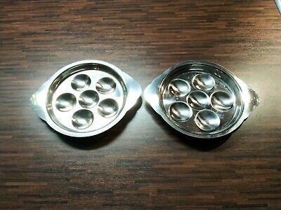 6 Stück Schneckenpfanne Schneckenteller mit Griffen für 6 Schnecken Porzellan