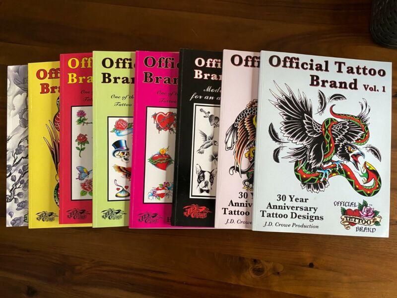 *8* Tattoo Reference books Original Tattoo Brand - JD Crowe / Troy Timpel