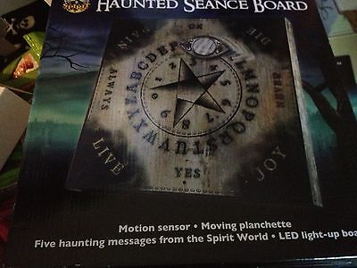 New ANIMATED SEANCE SPIRIT OUIJA BOARD PROP LIGHTS PLANCHETTE MOVES 5 Messages