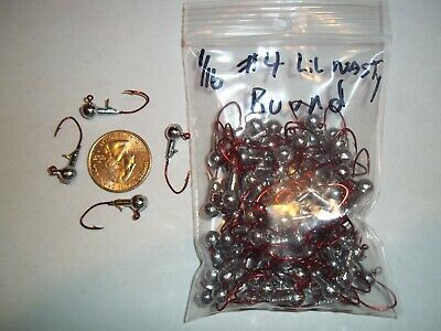 RED 100ct 3//32oz #1 ROUND HEAD LEAD HEAD EAGLE CLAW