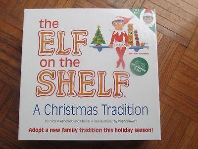 NEW Elf on The Shelf Christmas Tradition Elf BLUE EYES Doll With Book NIB GIRL