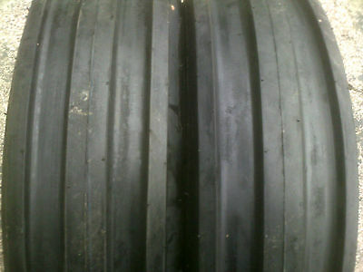 Two New 500-15 Farm F-2 Tri-rib 3 Rib Tires W Tubes 4 Ply Tractor 5.00 Farmall