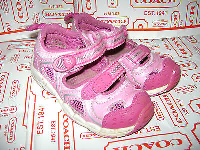 STRIDE RITE BABY LIDDIE TODDLER GIRLS SHOES SANDALS size 5.5 M PINK LEATHER