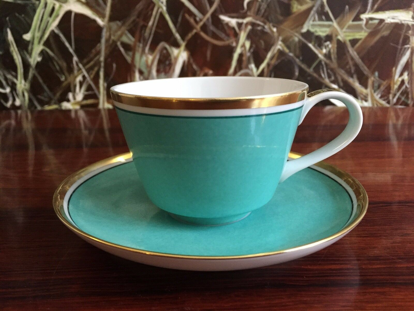 Reichenbach Colour Collection, Coffee Cup with Saucer Turquoise 7.4oz