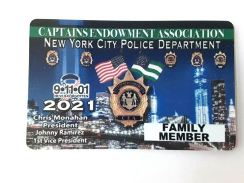 1 NEW AUTHENTIC 2021 CEA PBA FAMILY MEMBER  CARD LIKE  DEA SBA LBA PBA