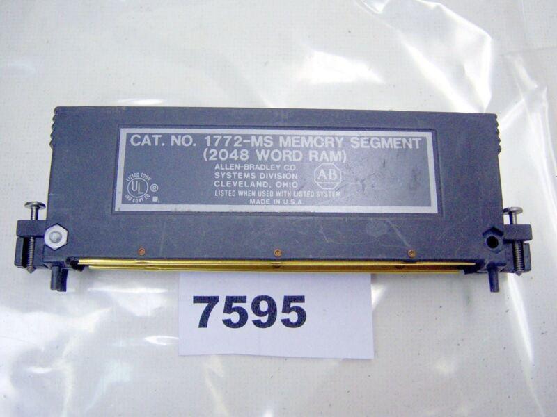 (7595) Allen Bradley 2048 Word Memory Module 1772-MS