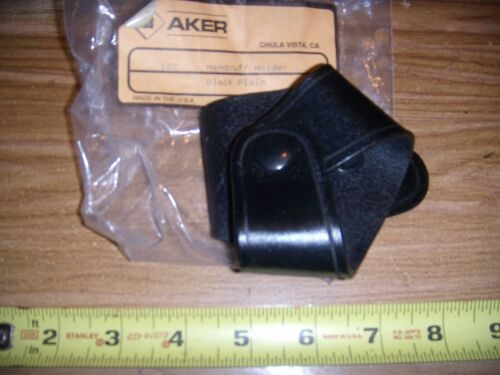 NEW  AKER  BLACK  LEATHER   HAND CUFF HOLSTER