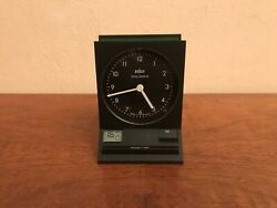 Vintage Braun Time Control Alarm Quartz Clock Type:3850/AB 60 fsl