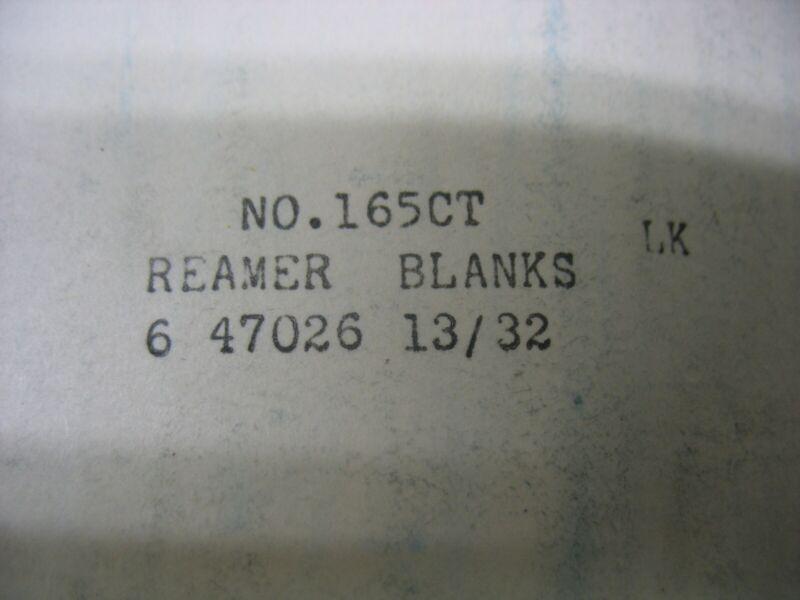 "Greenfield  USA Reamer Drill Blank HSS Type 165-CT 3//8/"" Diam x 5/"" OAL"