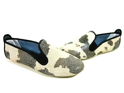 DIMMI WOMEN'S STRETCH FASHION FLATS COW LEATHER US SIZE 7.5 MEDIUM IMPORTED Fashion Cow Leather Flat