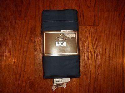 New Fieldcrest Luxury 500TC Egyptian Cotton Damask Stripe Navy King Pillowcases