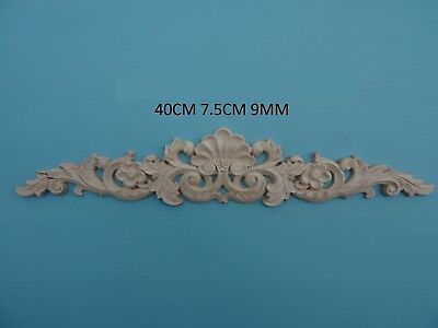 Decorative large shell and flower center applique furniture moulding onlay W32