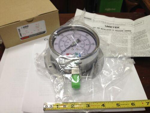 AMETEK / US GAUGE P656RF, 0-600 psi Pressure Gauge, 316SS NIB