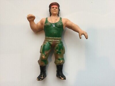 Corporal Kirchner WWF LJN Action Figure with Stubble Variant 1986 Rubber Figure