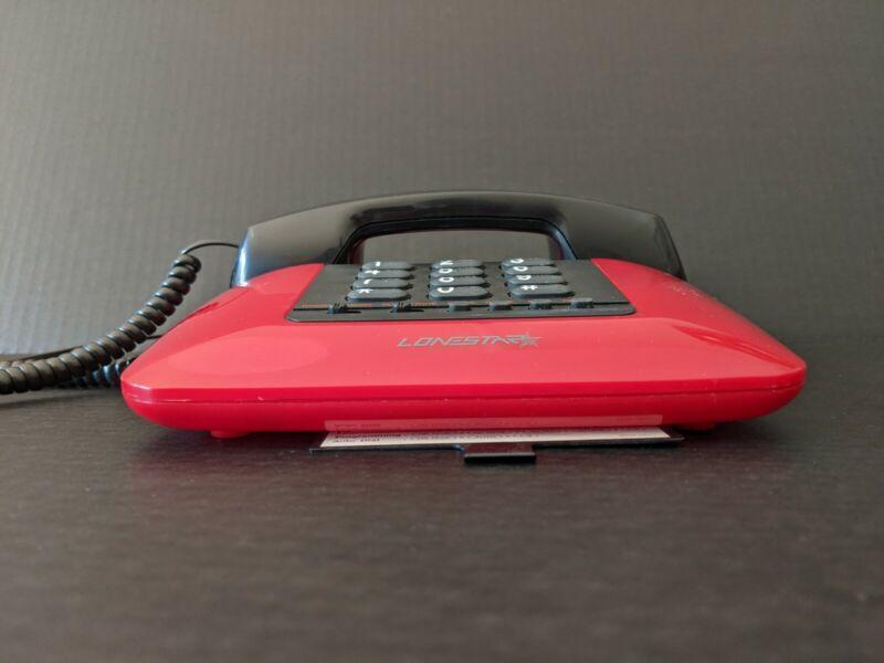 Vintage Sleek Red Lonestar Model 641 Landline Telephone