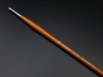 Isabey ISACRYL Short Flat Brush Series 6562 Size 00 Isabey Brush Series