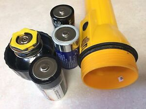 Craftsman Long Yellow Camping Flashlight.