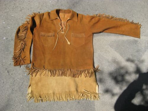"Mountain Man Deer HIde Leather War shirt, Rendezvous, 44"" chest"