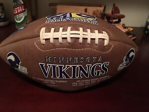Vikings pigskin in excellent condition.