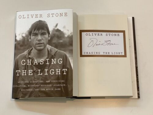 Oliver Stone Signed Autograph Chasing The Light HC Book Scarface Platoon COA