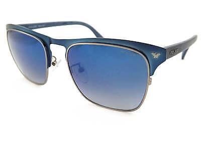 334ce979a11 POLICE - MOMENTUM 1 sunglasses Satin Blue  Blue Gradient Mirror S8949 8KTB