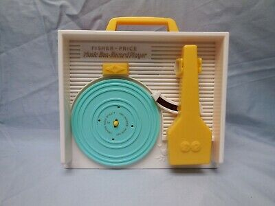 VINTAGE FISHER PRICE 2010 MUSIC BOX/ RECORD PLAYER W/5 RECORDS