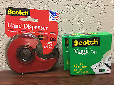 Scotch H127 Hand Tape Dispenser With 2 Rolls Scotch Magic Tape 34 X 1000