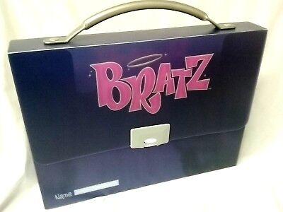 Girls The Bratz Pack Purple School Folder Case With Handle