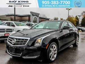 2013 Cadillac ATS 2.0L TURBO, BACK UP CAM, HEATED LEATHER SEATS