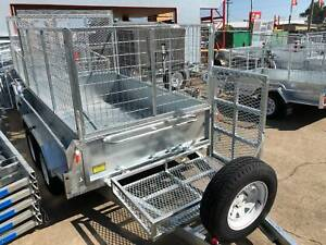 Heavy Duty 8x5 Tandem Axle Trailer 1990kg ATM Mower Box and Rear Ramp North Ipswich Ipswich City Preview