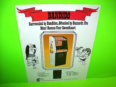 Exidy 1980 BANDIDO Original NOS Vintage Video Arcade Game Promo Sales Flyer #2
