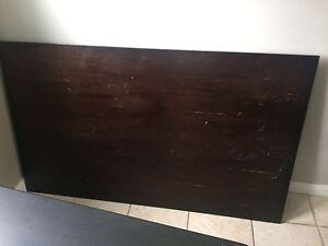 Solid brown wood table  Cambridge Kitchener Area image 2