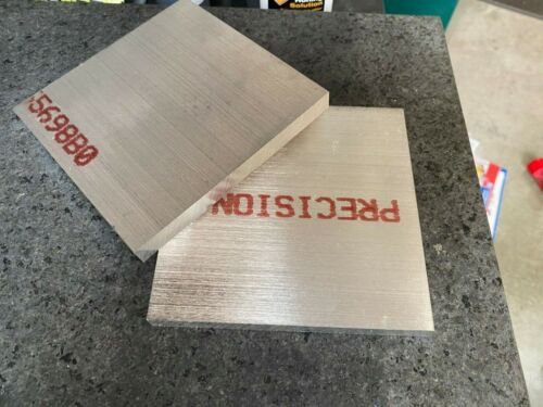 "(x2) 1/2"" .500 Aluminum Precision Sheet Plate 5.5"" x 5.5"" 6061 T651 CNC"
