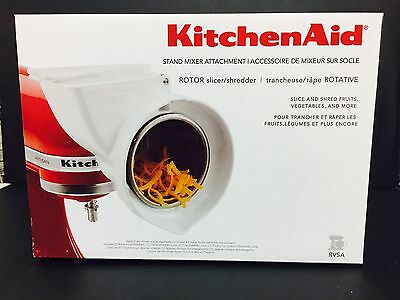 New KitchenAid RSVA Rotor Slicer Shredder Stand Mixer Attachment
