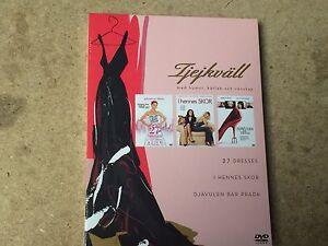 NEW DVD Films * 27 DRESSES / IN HER SHOES / THE DEVIL WEARS PRADA * triple pack